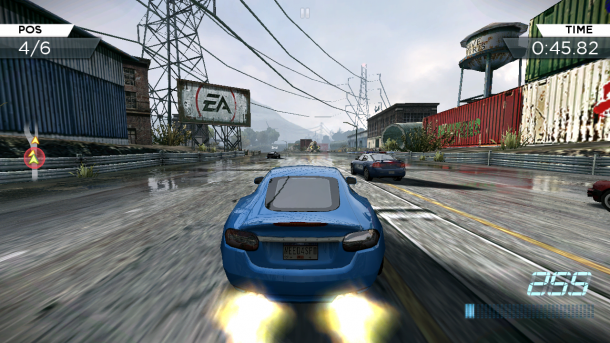 Nitrous boosts are a major part of driving in NFSMW