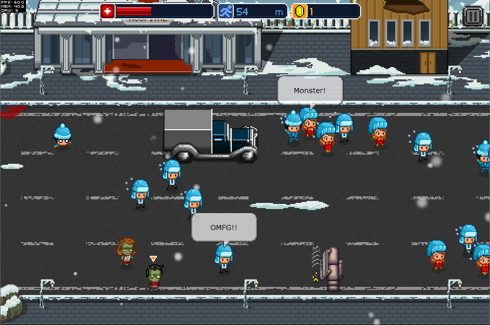 zombie infection turned endless runner with infectonator