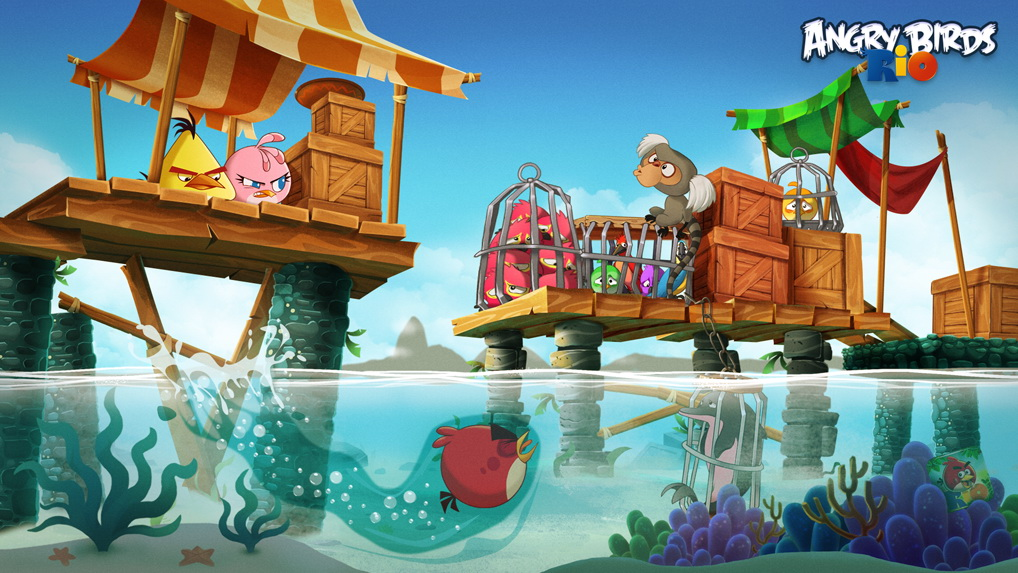 angry birds rio gets 20 new high dive levels in latest. Black Bedroom Furniture Sets. Home Design Ideas