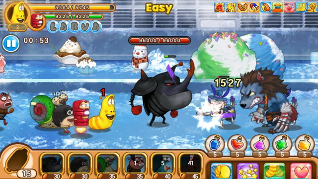 Larva Heroes Lavengers 2014 Is A Defense Game Involving
